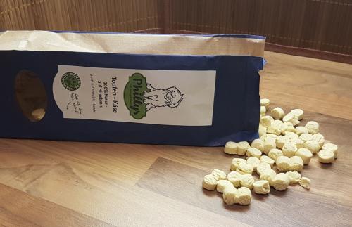 Topfen-Käse Kekse von Phillys mit Packung